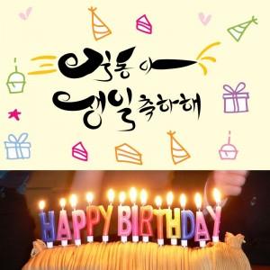생일축하해 캘리